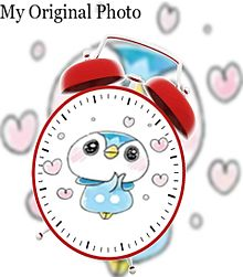 ポッチャマで目覚まし時計加工してみた(öᴗ<๑)の画像(時計に関連した画像)