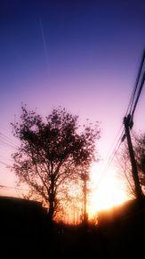 街 夕日 シルエットの画像(空に関連した画像)