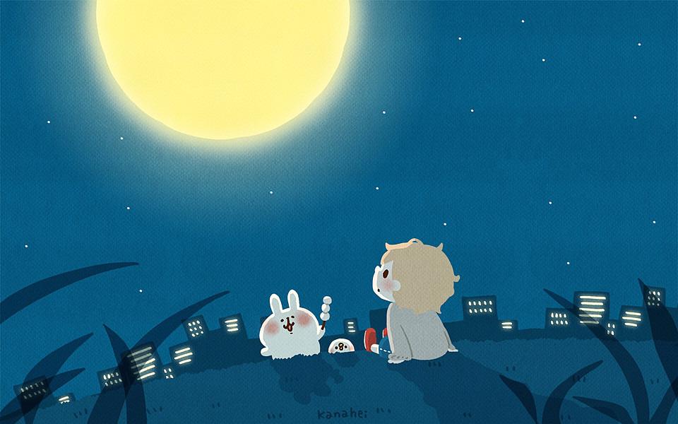 カナヘイとお月見