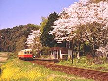 電車と桜の画像(電車に関連した画像)