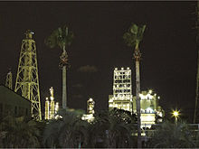 コンビナートの夜景 プリ画像