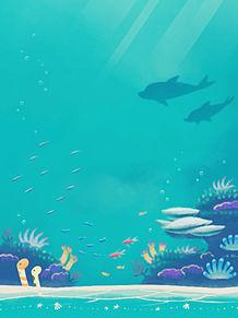 海の生き物の画像(夏休みに関連した画像)