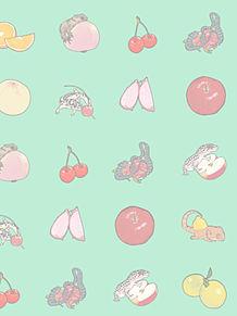 カメとトカゲの画像(果物に関連した画像)