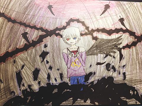 鬼月で廃墟の国のアリスの画像(プリ画像)