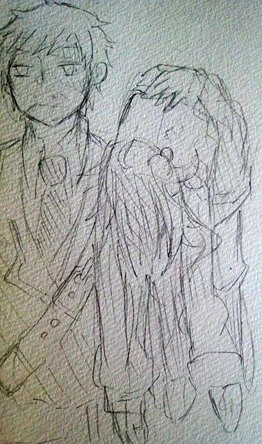 ある日のアレスと先生の画像(プリ画像)