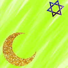 黄緑・月・✡の画像(黄緑に関連した画像)