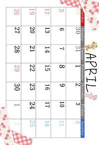 4月カレンダーの画像(サクラに関連した画像)