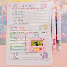 Korean girl's study plannerの画像(プリ画像)