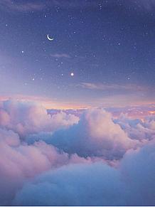 空/雲/月/素材/壁紙の画像(夜景  壁紙に関連した画像)
