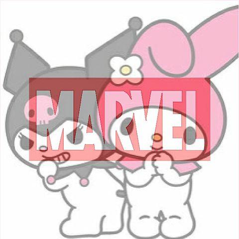 マイメロとクロミ×MARVELの画像(プリ画像)