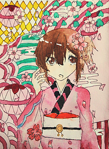 春の画像(水彩画に関連した画像)