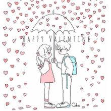 イラスト 手書き バレンタイン