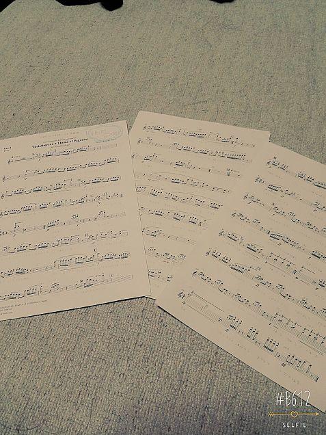 アンコンの曲「パガニーニの主題による変奏曲」の画像(プリ画像)