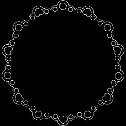 【加工素材】アイコン フレーム 白黒の画像 プリ画像