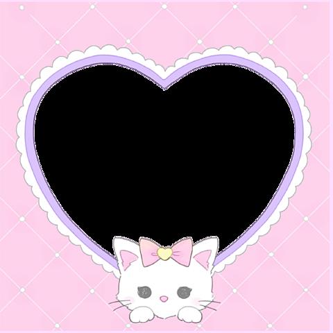 ♡ はーと猫 アイコン素材 背景透過の画像(プリ画像)