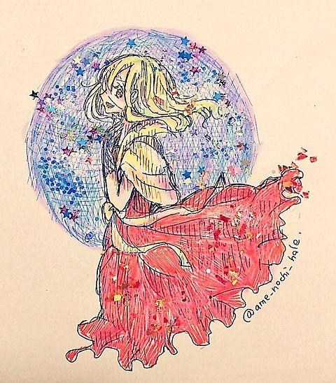 煌めくドレスに身を包んでの画像(プリ画像)