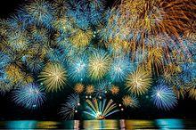 三重県 津花火大会  写真右下のハートを押してねの画像(花火大会に関連した画像)