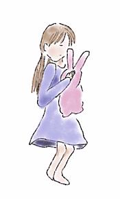 女の子とうさぎの画像(うさぎ イラストに関連した画像)
