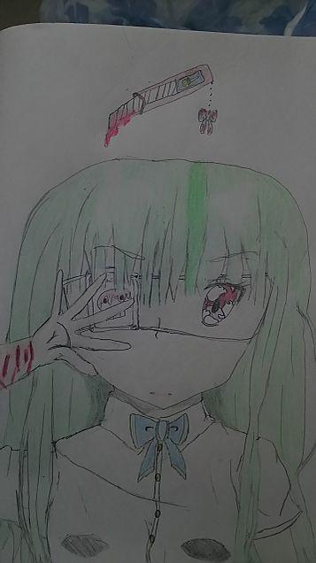 病み(ずっと描いてみたかった!)の画像(プリ画像)