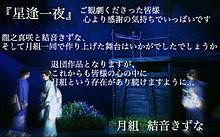 『星逢一夜 』 お礼状の画像(龍之真咲に関連した画像)