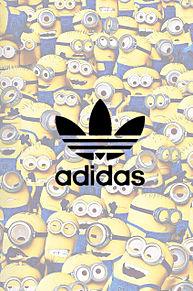 ミニオン&adidas 保存☞いいねの画像(トーク背景 かわいいに関連した画像)