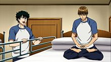 はしょる赤也と座禅中の日吉 (OVA 1話)の画像(座禅に関連した画像)