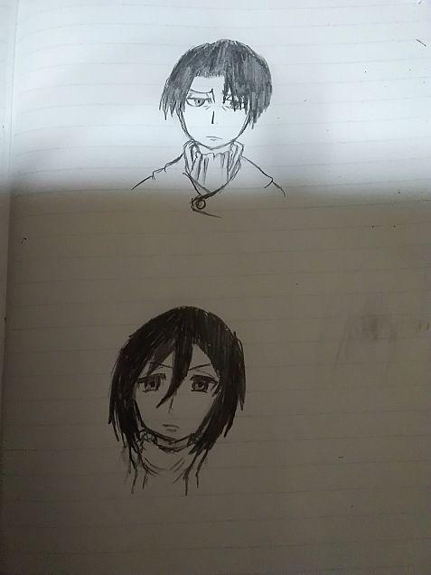 ミカサとリヴァイの画像(プリ画像)