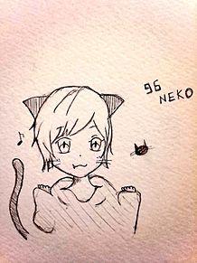黒猫96ちゃん プリ画像