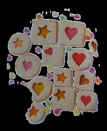 ステンドグラスクッキー🍪の画像(クッキー かわいいに関連した画像)