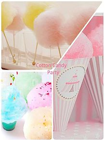 cotton candy  Partyの画像(プリ画像)