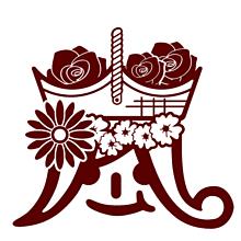 嵐マーク 花籠(モノクロ)verの画像(プリ画像)