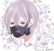 美少年とガスマスク*暇な人説明欄の画像(プリ画像)