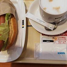 ターリーズコーヒーでホットドッグだよ。おいしいよ。の画像(#ホットドッグに関連した画像)
