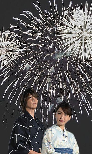 花火大会風の画像(プリ画像)