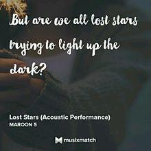 Lost Stars/Maroon5の画像(lostに関連した画像)