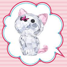 スワロフスキークリスタルの猫 おしゃれの画像(猫 おしゃれに関連した画像)