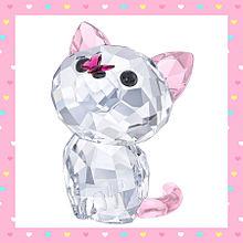 2 スワロフスキークリスタルの猫 おしゃれの画像(猫 おしゃれに関連した画像)