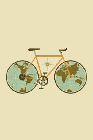 地球と自転車の画像(プリ画像)