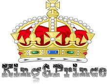 King&Princeでオリジナルロゴ作ってみた(öᴗ<๑) プリ画像