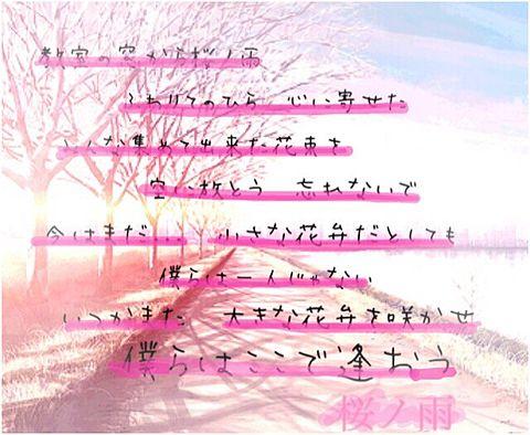 桜ノ雨 歌詞画像の画像(プリ画像)