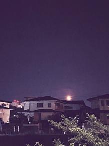 夜景(満月)の画像(満月に関連した画像)
