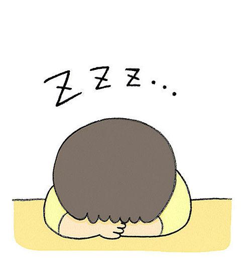 眠たいイラストの画像(プリ画像)