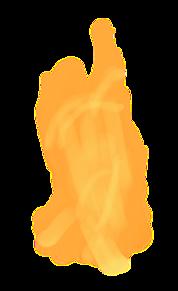火 透過 プリ画像