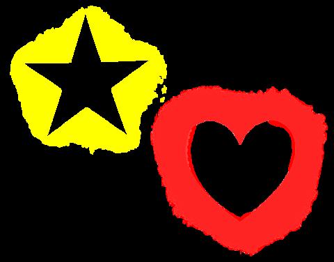 星とハートの画像(プリ画像)