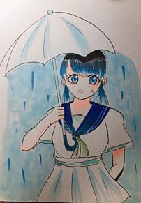 梅雨の女の子 プリ画像