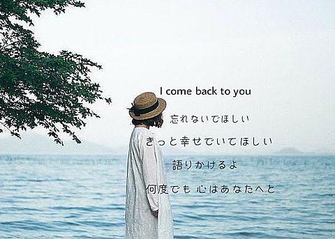 I come back to you/Goose houseの画像(プリ画像)