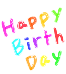 Happy Birthdayの画像(happybirthday 背景透過に関連した画像)
