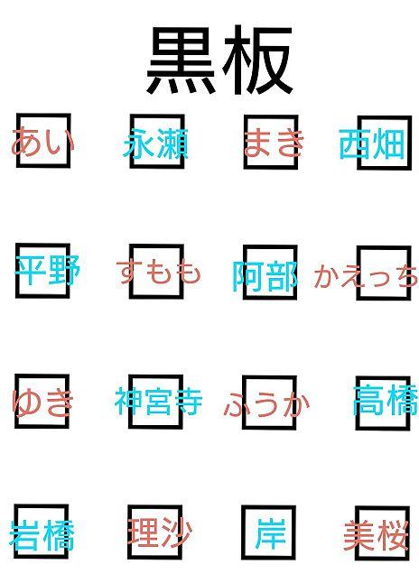 憧れの席替え♥完成版の画像(プリ画像)