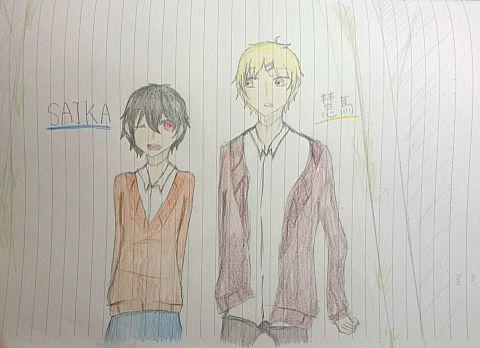【SAIKA×時雨桜】 オリキャラコラボ!の画像(プリ画像)