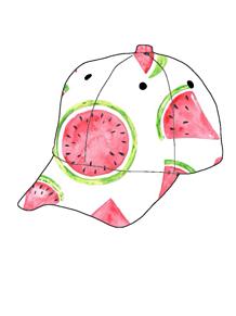 キャップ帽の画像(スイカに関連した画像)